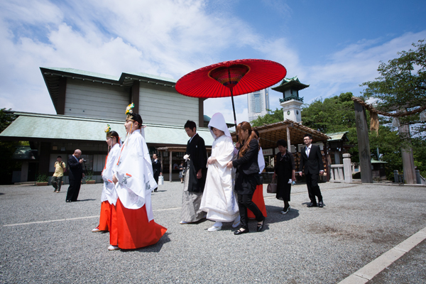 伊勢山皇大神宮挙式-横浜/桜木町-結婚式の出張撮影
